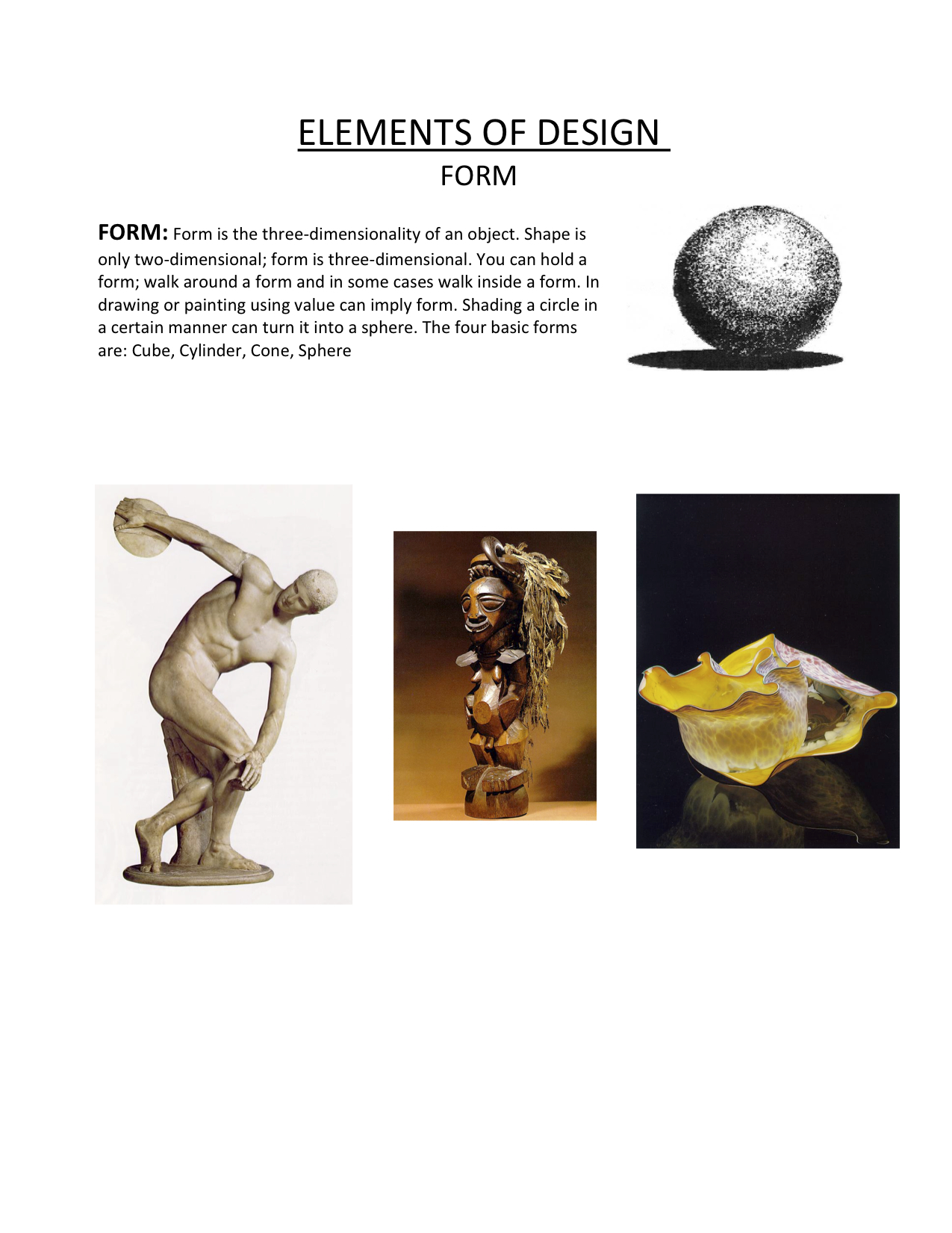 Elements of Design - Form