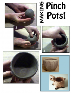 *Ceramic Technique Poster:Flyers - PINCH POTS